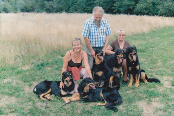 Elaine, John, Maggie & Dogs, Austria 2006